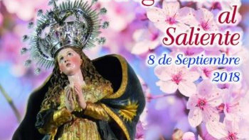 Cartel de los actos por el día de la Virgen.