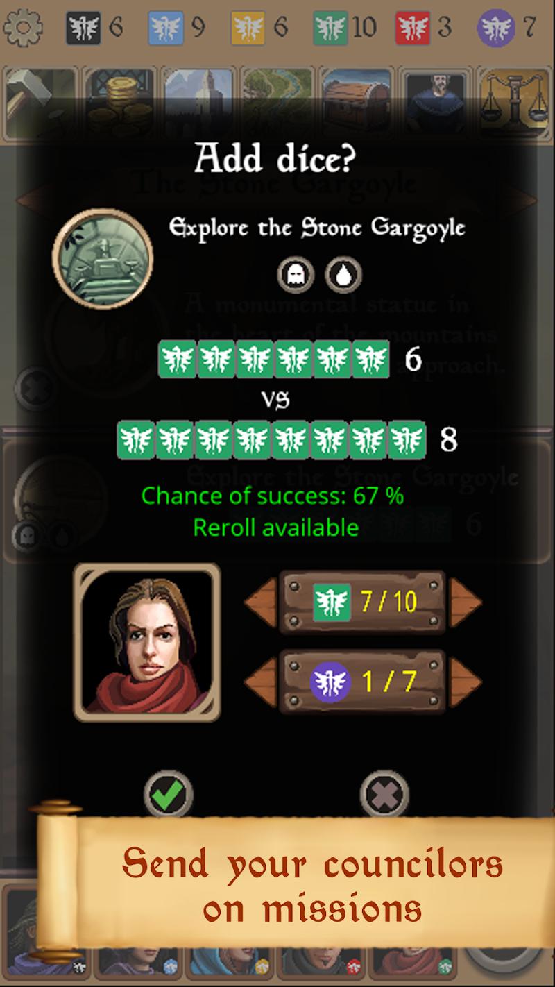 Silmaris - strategic boardgame and text adventures Screenshot 4