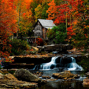 Glade Creek Mill by Steven Faucette - Buildings & Architecture Other Exteriors ( mill, grist, glade, west virginia, creek, babcock )