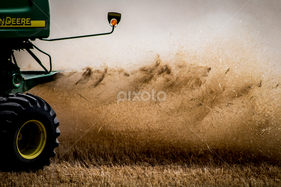 by Melissa S. Hunt - Products & Objects Industrial Objects ( wheat, farm, agriculture, combine, harvest, industry, country )