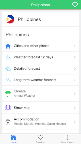 android Philippines weather forecast Screenshot 0