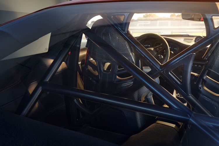 Clubsport Package is a no-cost option and bolts in a half roll cage.