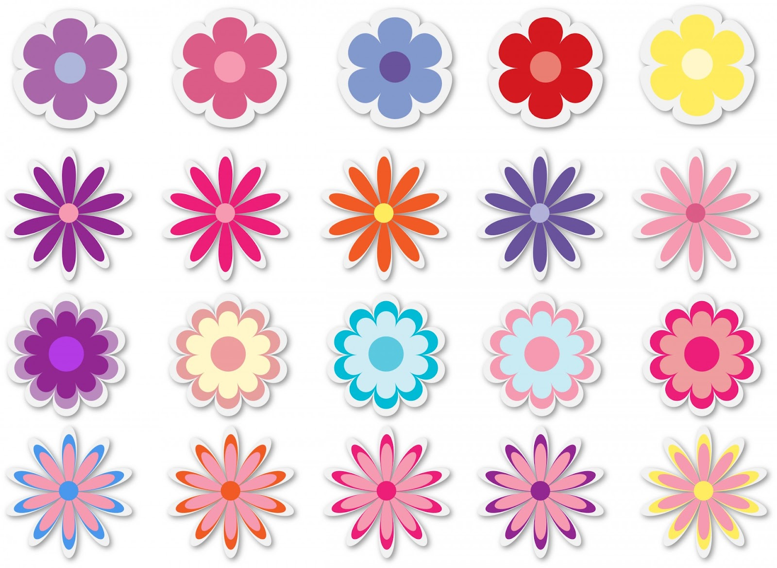 Reward Flower Stickers by public domain pictures.