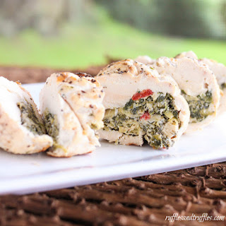 Spinach and Artichoke Stuffed Chicken on the Grill