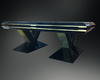 side view of the pharaoh pool table
