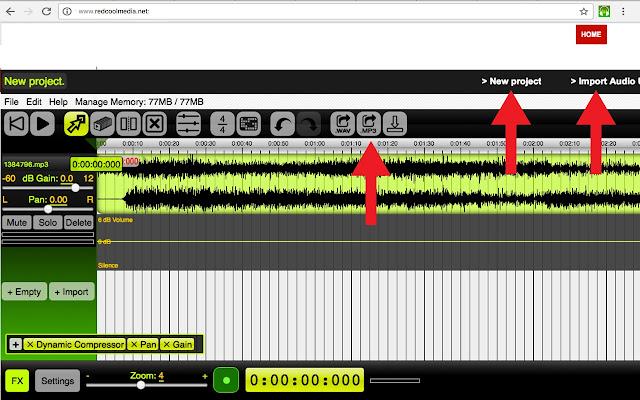 Audio editor & music editor AudioStudio
