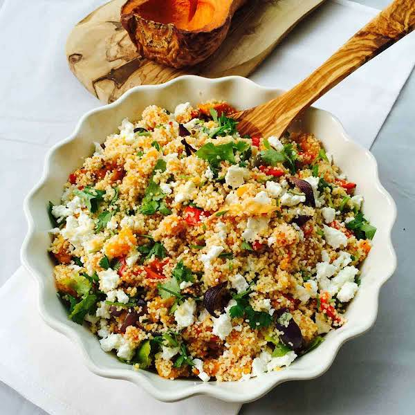 Roasted Veggies And Feta Whole Meal Couscous Recipe