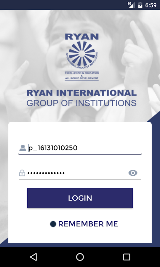 Ryan Parent Portal- screenshot