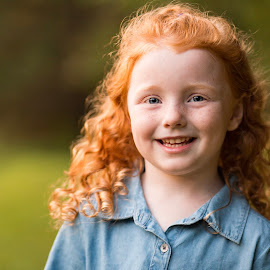 Red curls and freckles by Marco Vergara - Babies & Children Child Portraits ( red hair, freckles, curly hair, girl, curls )