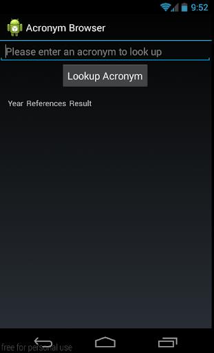 Acronym Browser