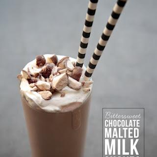 Bittersweet Chocolate Malted Milkshakes