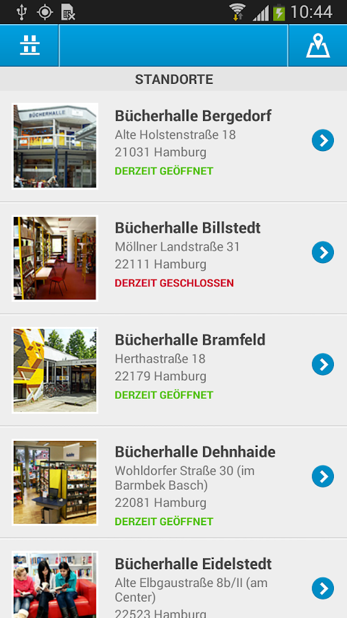 Bücherhallen Hamburg- screenshot
