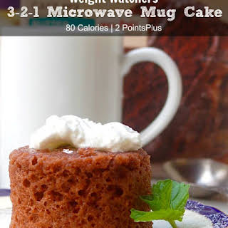 Weight Watchers 3 2 1 Microwave Mug Cake.