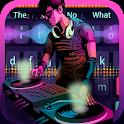DJ music fashion rock theme keyboard icon