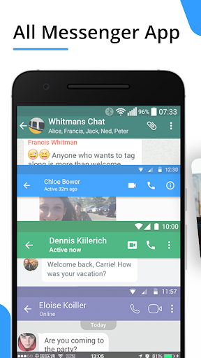 Messenger for Messages,Video Chat,Call ID for Free screenshot 1