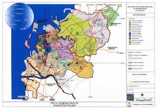 Photo: Peta Kota Makassar setelah perluasan tahun 1971, luas 175,77 km2. http://nurkasim49.blogspot.com/2011/12/vi.html