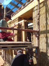 Photo: door frame going in
