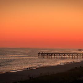 Evening by Rananjay Kumar - Landscapes Beaches ( canon, canon70d, pier, sc, beach, landscape, usa )