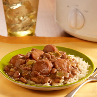 Cajun Slow Cooker Beans with Rice.