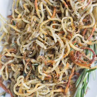 Spiralized Rosemary Potatoes.