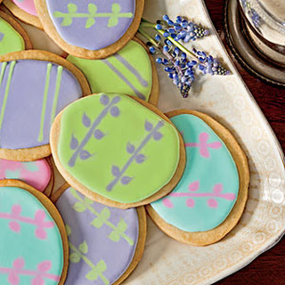 Easter-Egg Shortbread Cookies