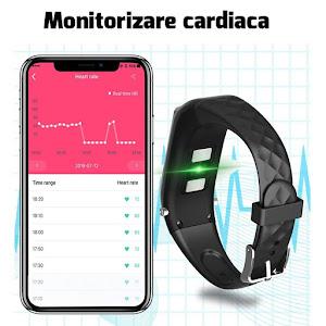 Bratara fitness 2 in 1 Siegbert, casca bluetooth, monitorizare cardiaca