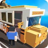 Blocky City Bus Driver SIM