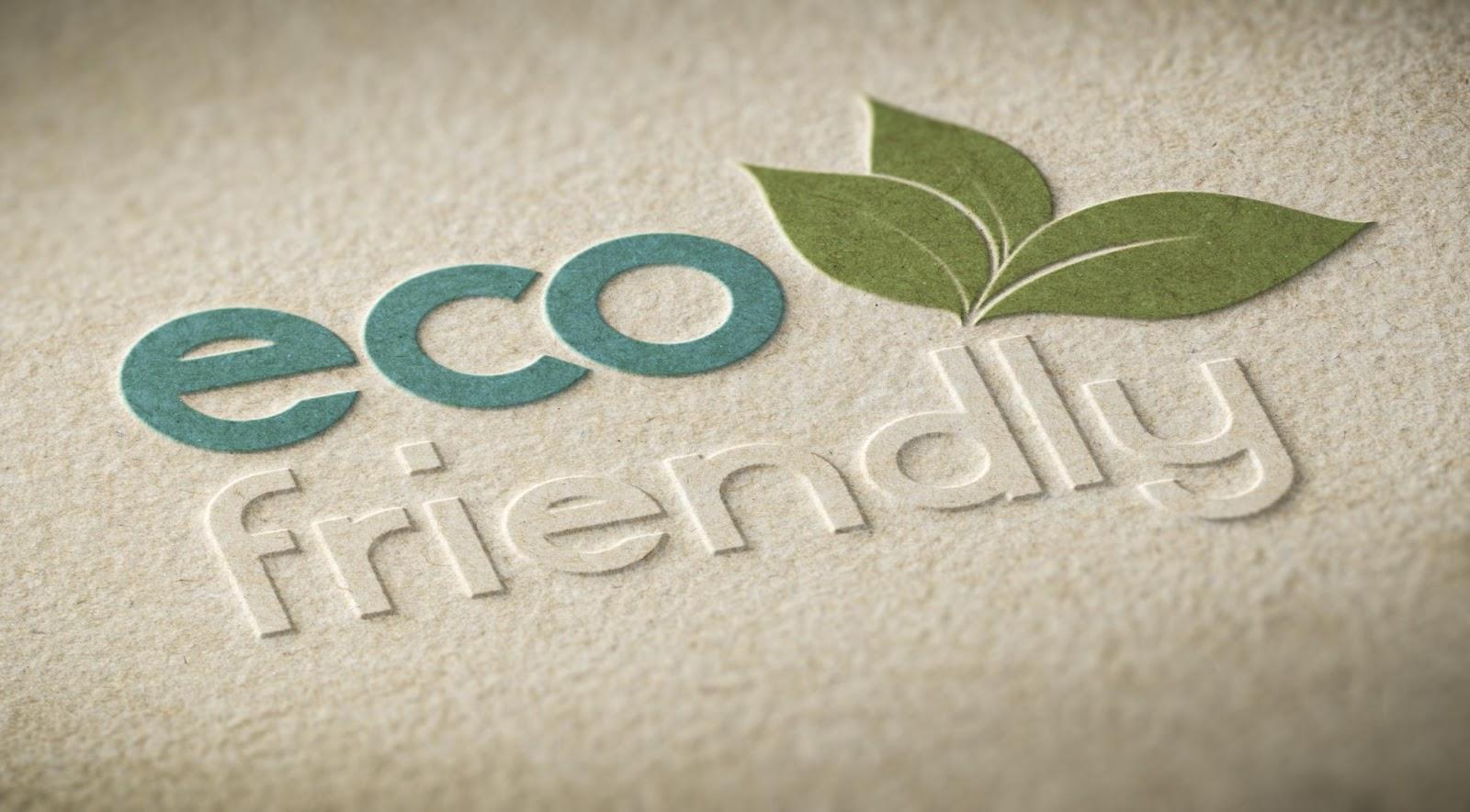 Eco-friendly typography