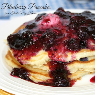 Blueberry Pancakes with Blueberry Maple Syrup Recipe