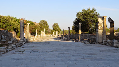 Photo: The road that led from Ephesus to the sea. The sea is a little farther away these days.