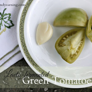 Lacto-fermented Green Tomatoes