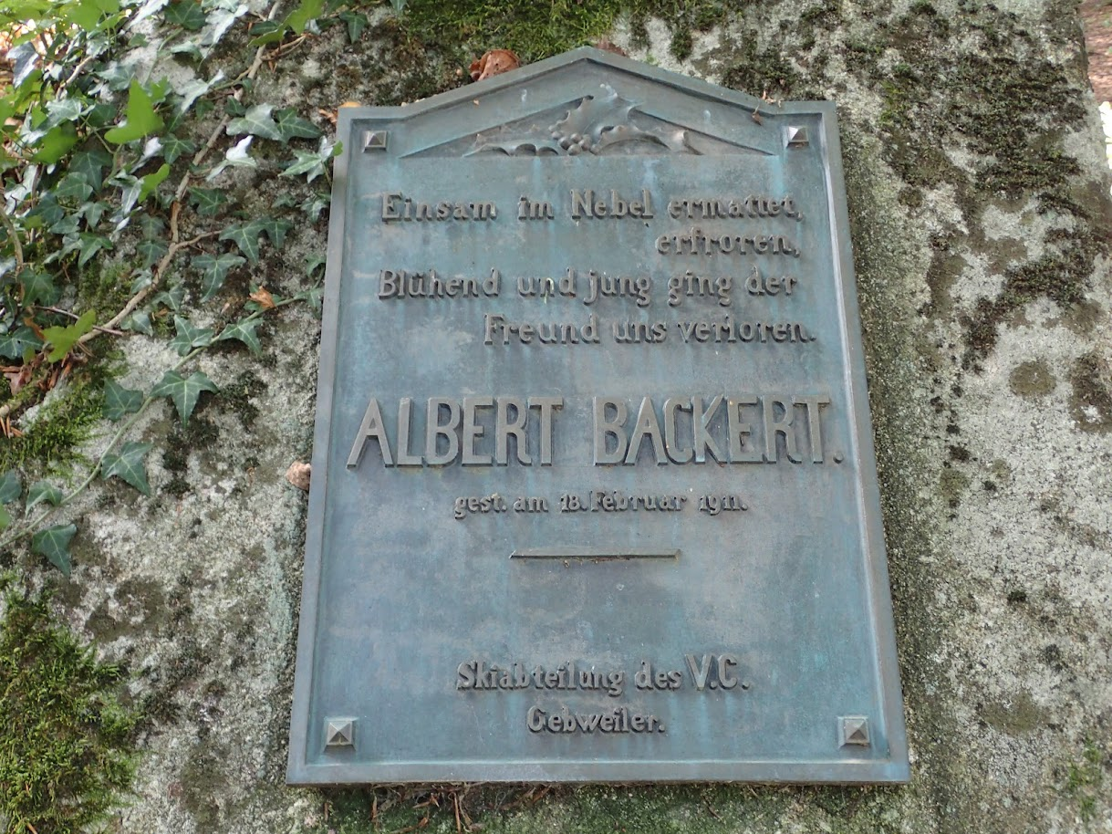 Plaque souvenir du temps de l'Alsace allemande