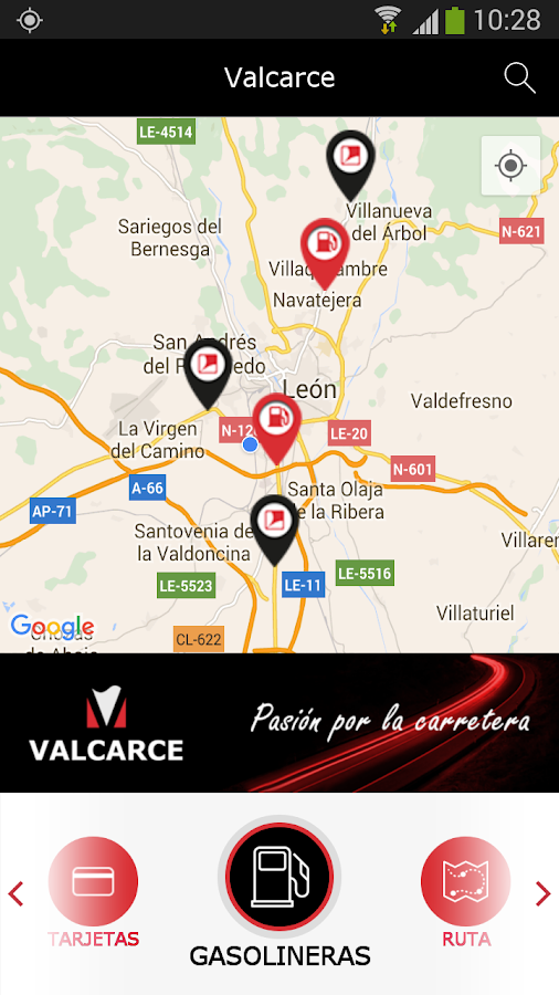 Grupo Valcarce: captura de pantalla
