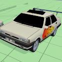 Car Flame Acrobat icon