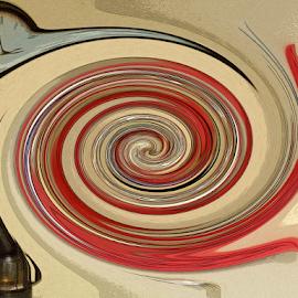 Flying Time by Edward Gold - Digital Art Abstract ( digital photography, abstract art, flying time, clock, digital art,  )