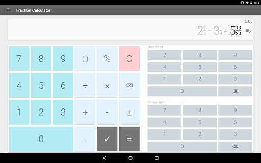 Fraction calculator: easy solve fractions problems 1.27 screenshots 8