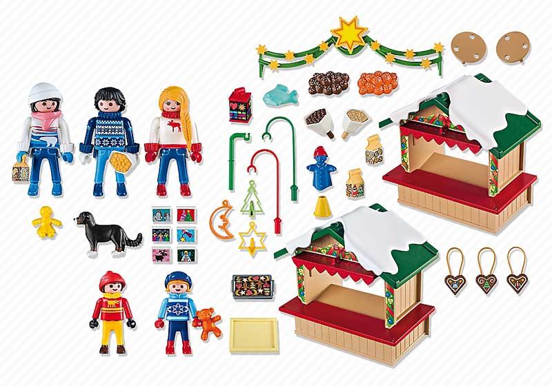 Contenido Real de Playmobil® 5587 Mercadillo Navideño