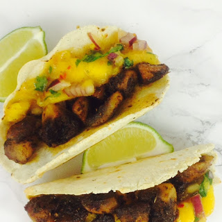 Caribbean Tortillas With Mango Salsa