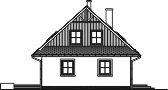Domek Ciepły szkielet drewniany 012 BD - Elewacja lewa