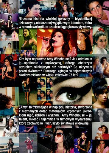 Tył ulotki filmu 'Amy'