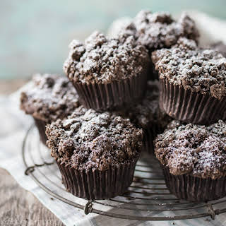 Double Chocolate Streusel Muffins.