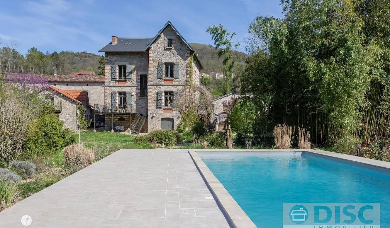 Maison avec piscine et jardin Saint-Antonin-Noble-Val
