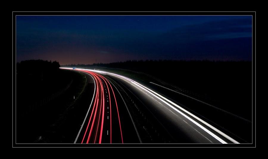 Light Trails by Paul Gaughan - City,  Street & Park  Night