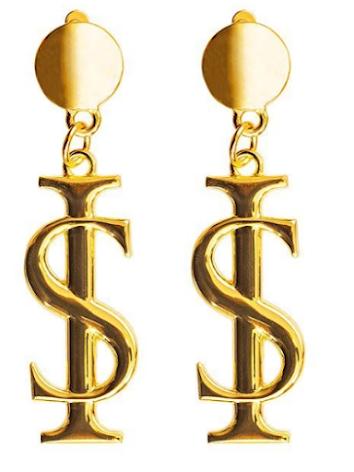 Logo Earrings Gold - Ida Sjöstedt
