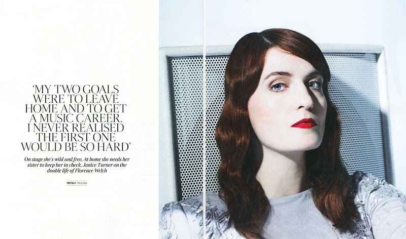Photo: Florence Welch in Roberto Cavalli in The Times Magazine editorial