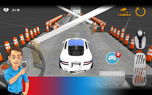 警察の車の駐車3D