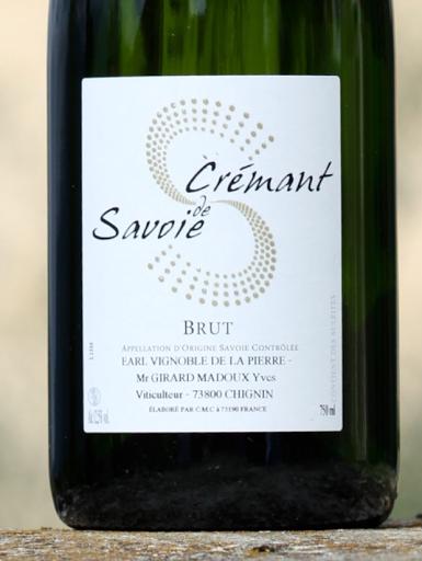 Crémant de Savioe - Sparkling White Wine - Savoie Wine - Chignin - Vignoble de la Pierre
