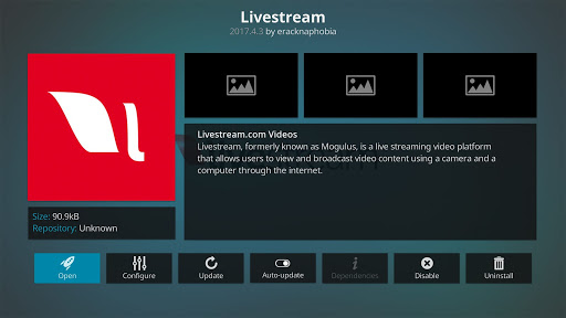 How to Install the Livestream Kodi Addon