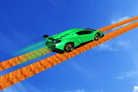 Longest Tightrope Mega Ramp Car Racing Stunts Game Screenshot