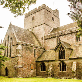 Brecon Cathedral by Jennifer  Loper  - Buildings & Architecture Places of Worship ( uk, church, catholic, wales, brecon, cathedral )